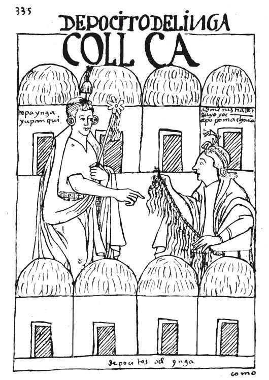 Inserire dida illustrazioni: Illustrazioni di Guamán Poma de Ayala, Nueva corónica y buen gobierno, 1615.