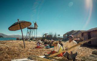 Trabajo familiar Chimu Lago Titicaca